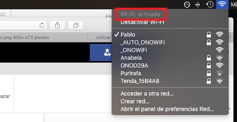 Comprobación del Wifi