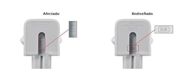 Apple arranca un programa de substitución para el adaptador del enchufe