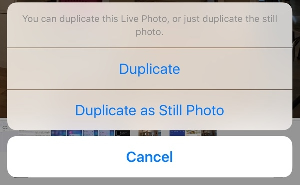 live photos still photo ios 9.3