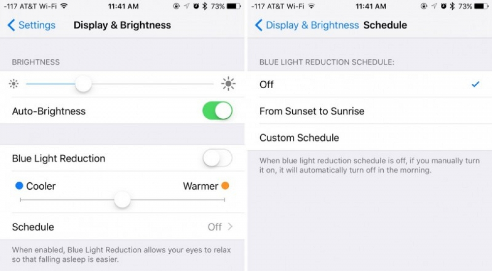 night shift modo noche nocturno iOS 9.3