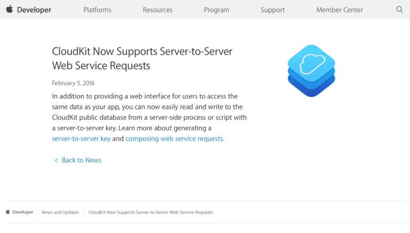 Cloudkit-server to server-0