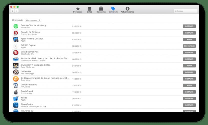 Historial descargas-app store-0