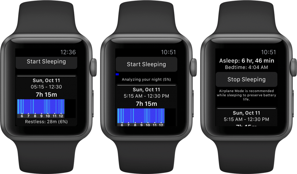 Sleep++ para Apple Watch