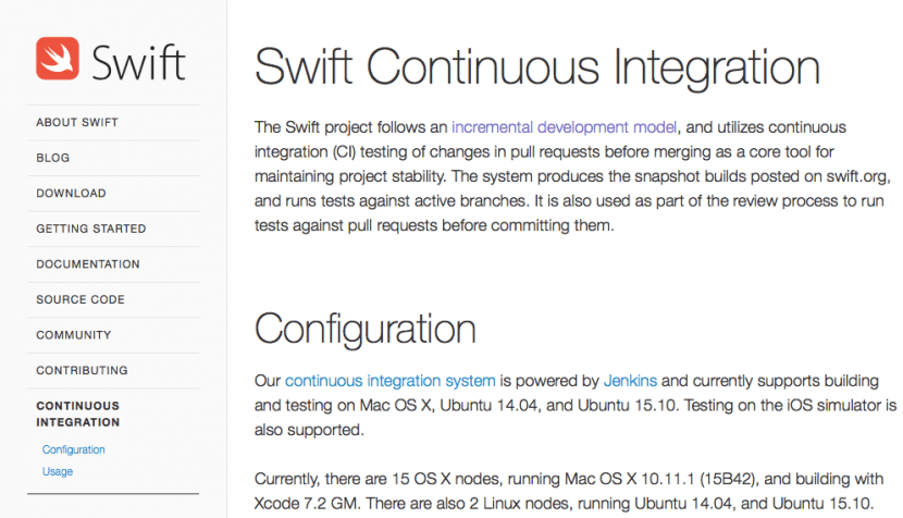 Swift-Continuous Integration tool-0
