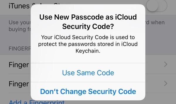 pass code icloud security code