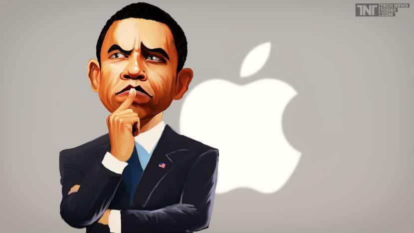 Barack Obama apple