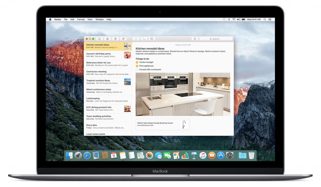 Notas para MacOS Sierra trae nuevas funciones