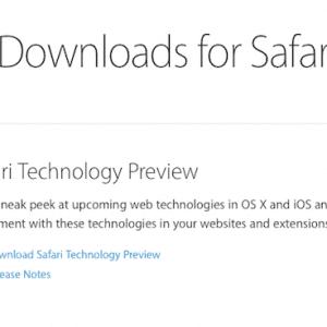 Apple lanza Safari Technology Preview, un navegador para los