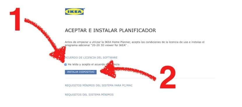 Instalación del planificador IKEA