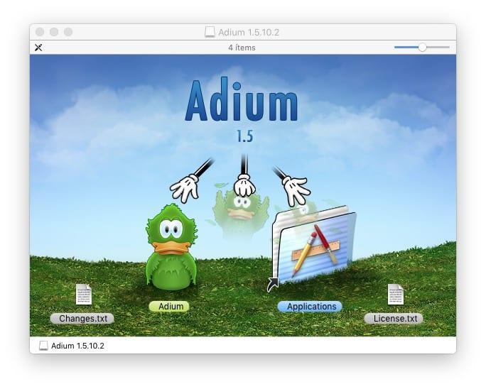 Instalar aplicación en carpeta aplicaciones de OS X