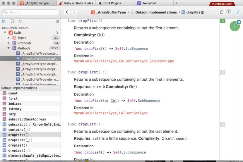 Ejemplo uso de Dash con Lenguaje Swift