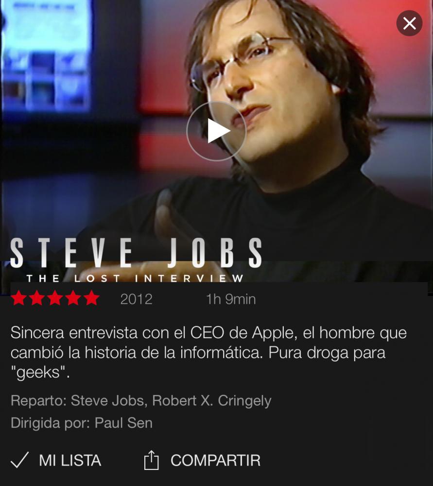 La entrevista perdida de Steve Jobs, ya en Netflix 2