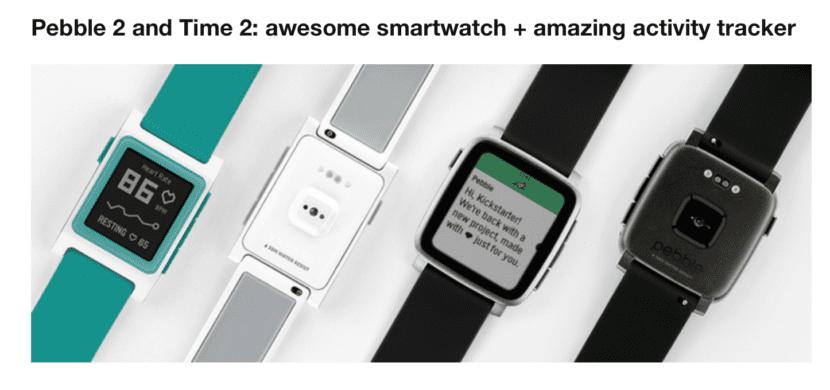 Nuevos relojes Pebble 2