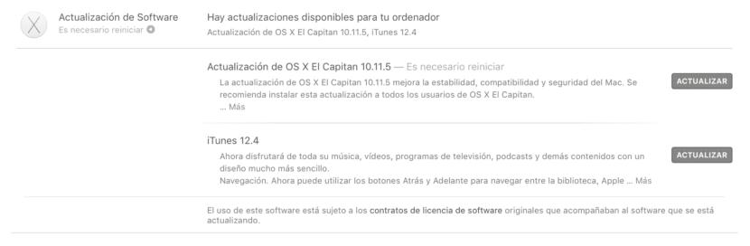 OS X 10.11.5-iTunes 12.4