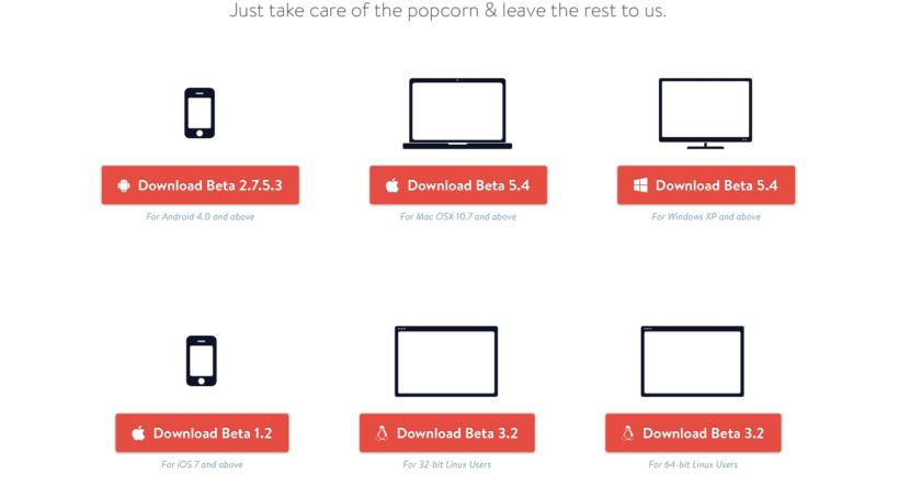 Popcorn Time otras plataformas
