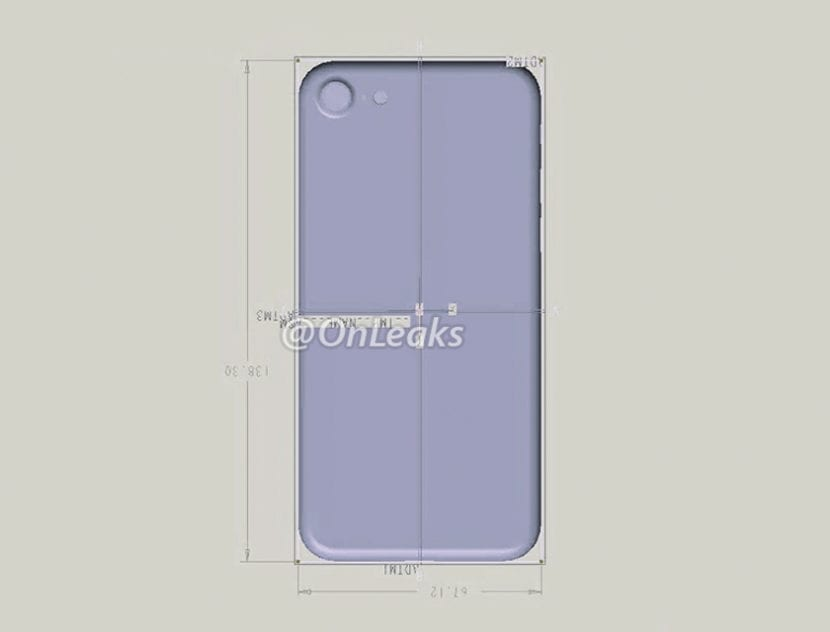 Render del diseño del iPhone 7