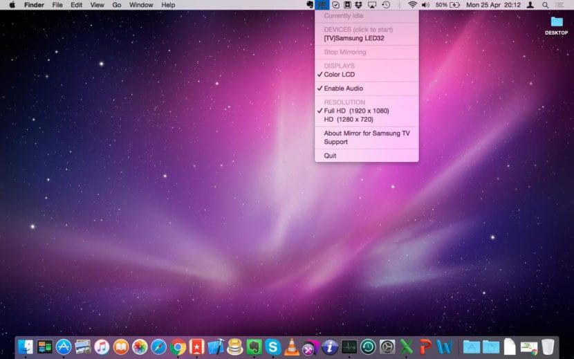 Duplicar pantalla de Mac en Smart TV