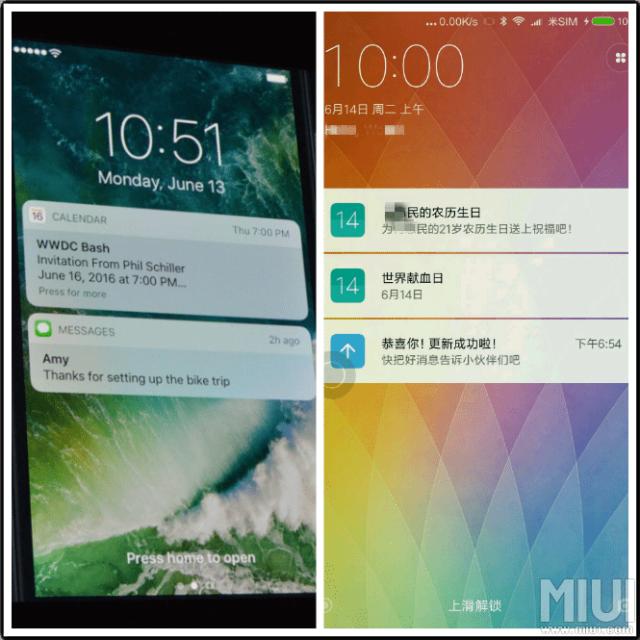 ¿Ha plagiado iOS 10 a Xiaomi?