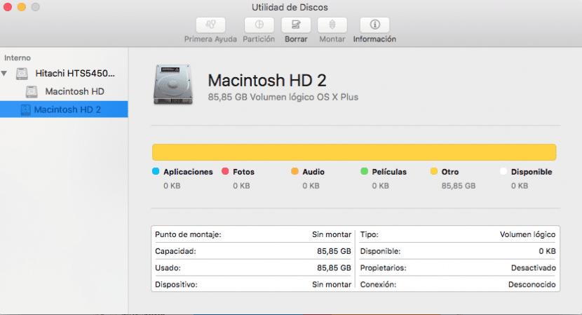 Interfaz de utilidad de discos