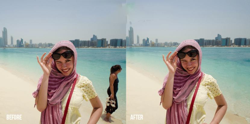 Antes y después al eliminar un objeto