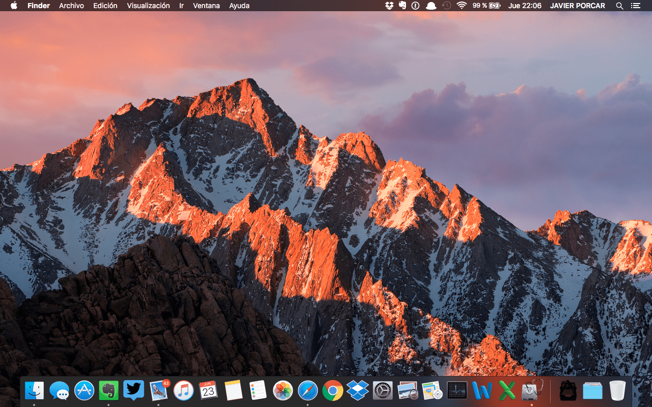 Captura de Pantalla de escritorio de macOS Sierra