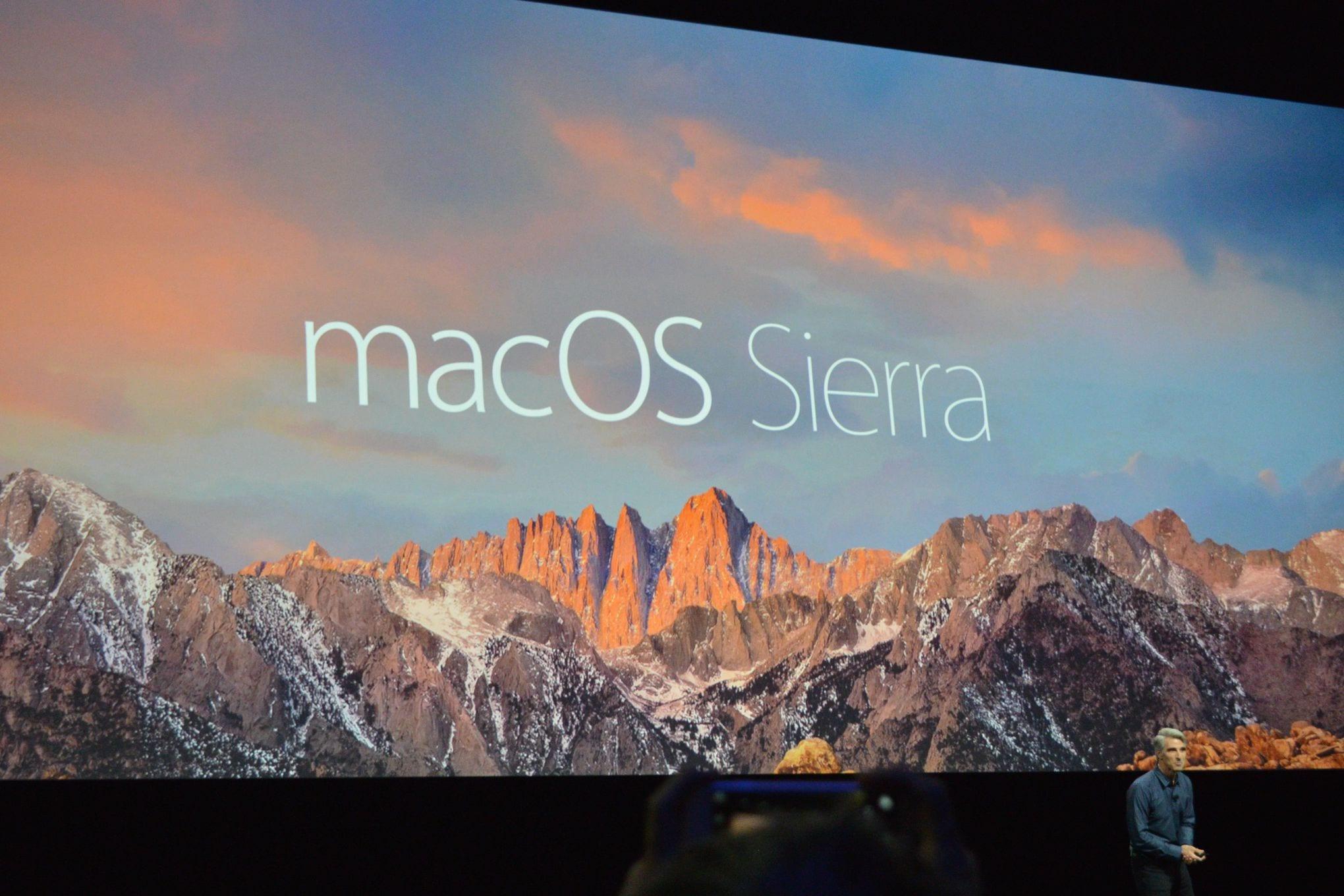macOS Sierra presentación