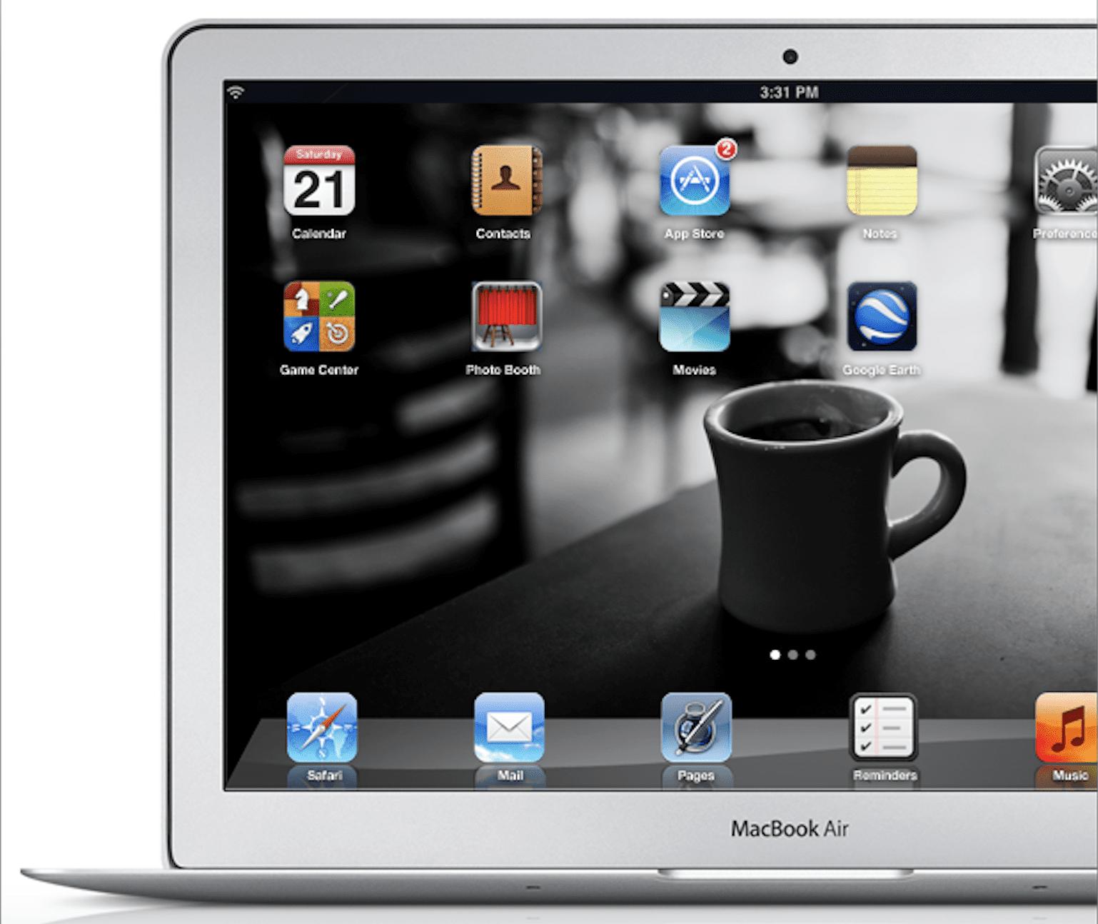 Apple patenta interfaz de iOS en Mac