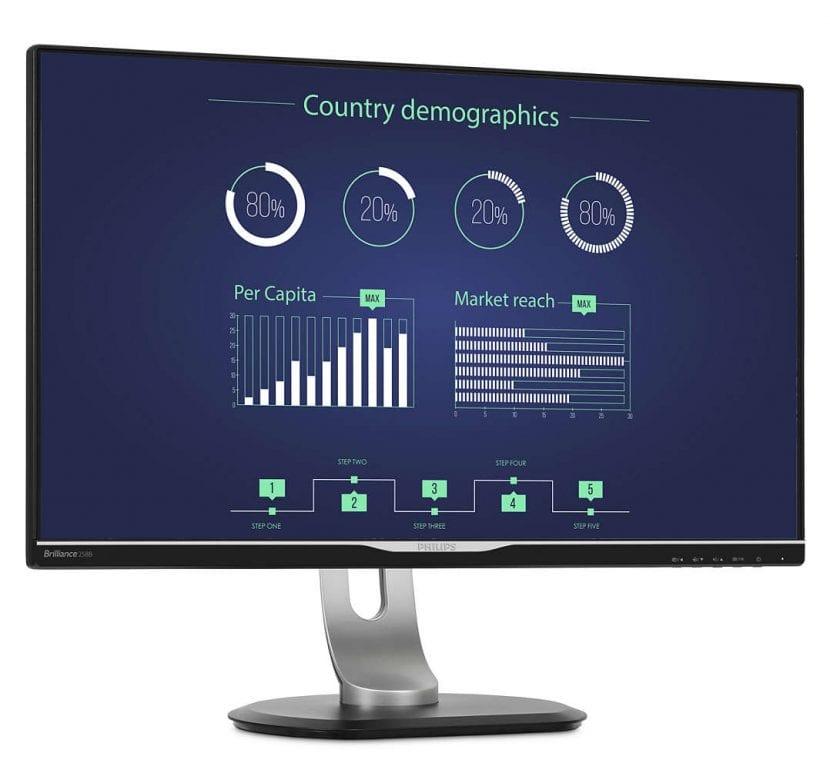 Monitor Philips con conexión USB-C