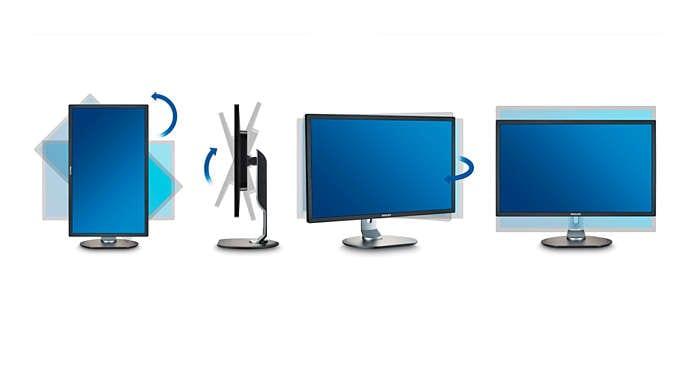 Base de las pantallas Philips con USB-C