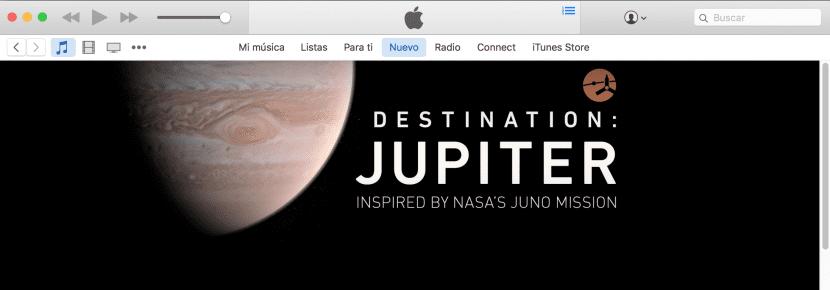 Apple Music y la NASA celebran la llegada de Juno a Júpiter