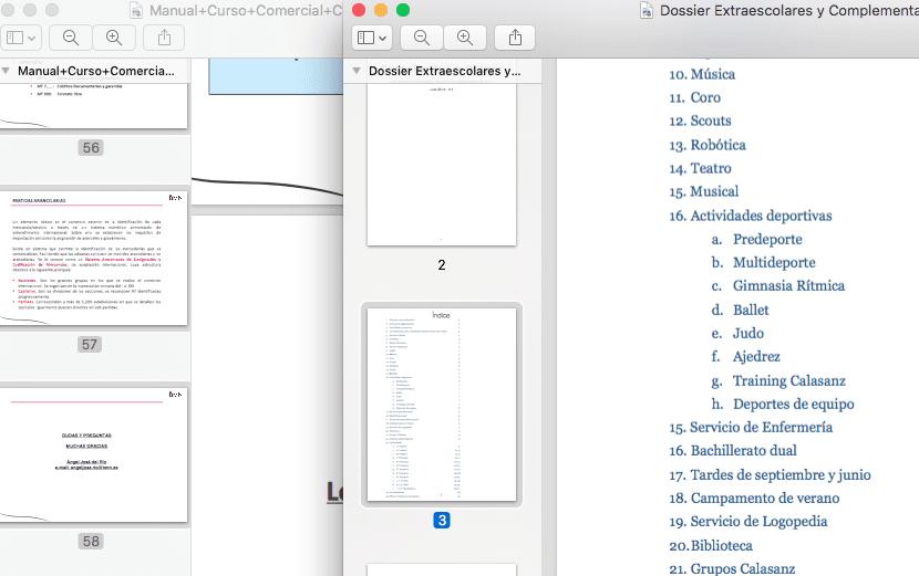 interfaz de Vista previa en el momento de trasladar hojas de PDF a otro PDF nuevo