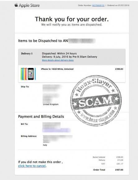 Un falso email de Apple tratará de robar tus datos personales