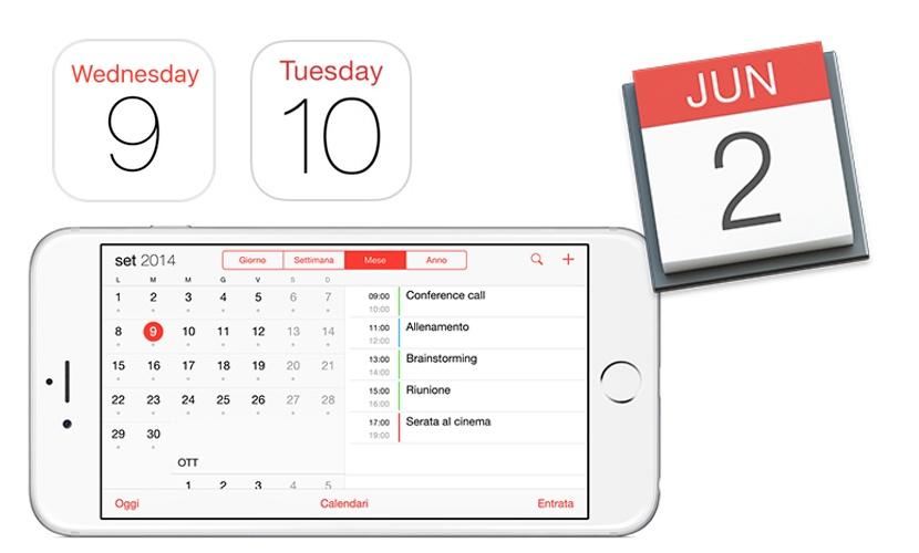 calendario ios ipad iphone