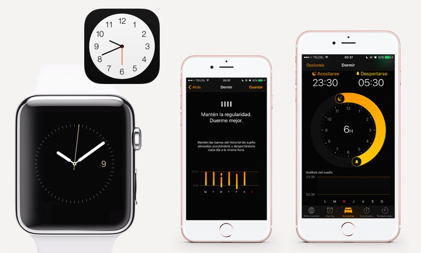 iPhone reloj ios app nativa