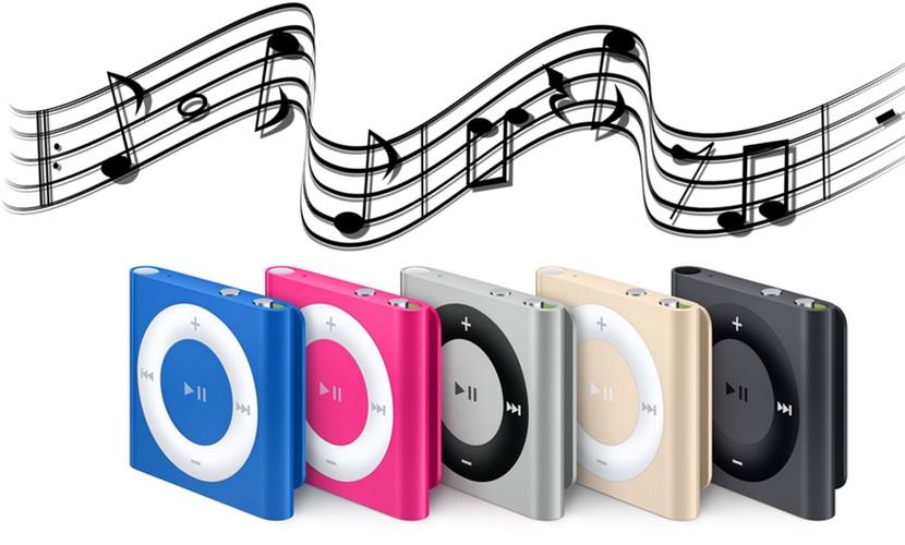 ipod shuffle musica almacenamiento espacio