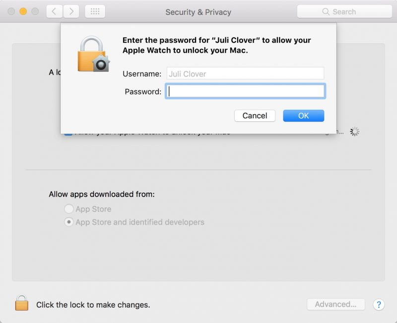 Activar Auto Unlock en macOS Sierra