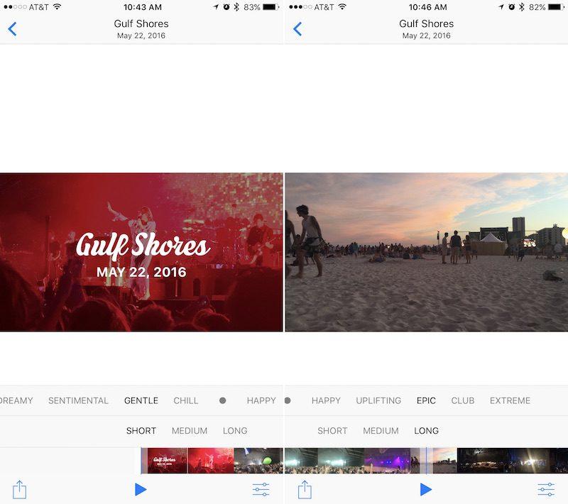 Editar Recuerdos en Fotos de iOS 10