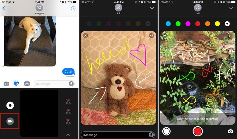 Anotar video en Mensajes para iOS 10