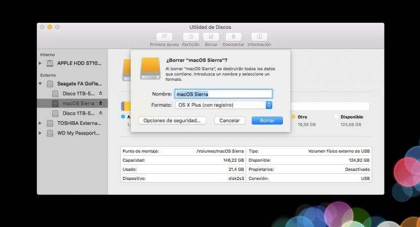 Formatear disco para instalar Sierra desde cero