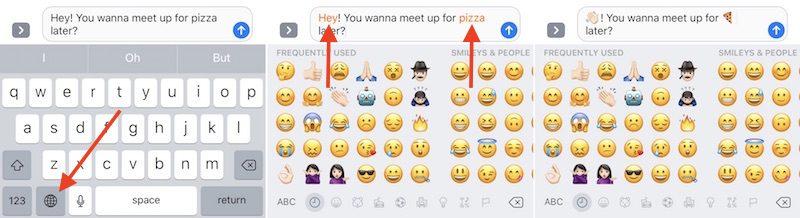 Cómo usar el teclado predictivo de emojis en iOS 10