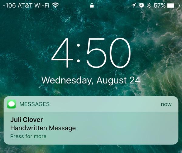 Cómo enviar notas a mano en Mensajes iOS 10