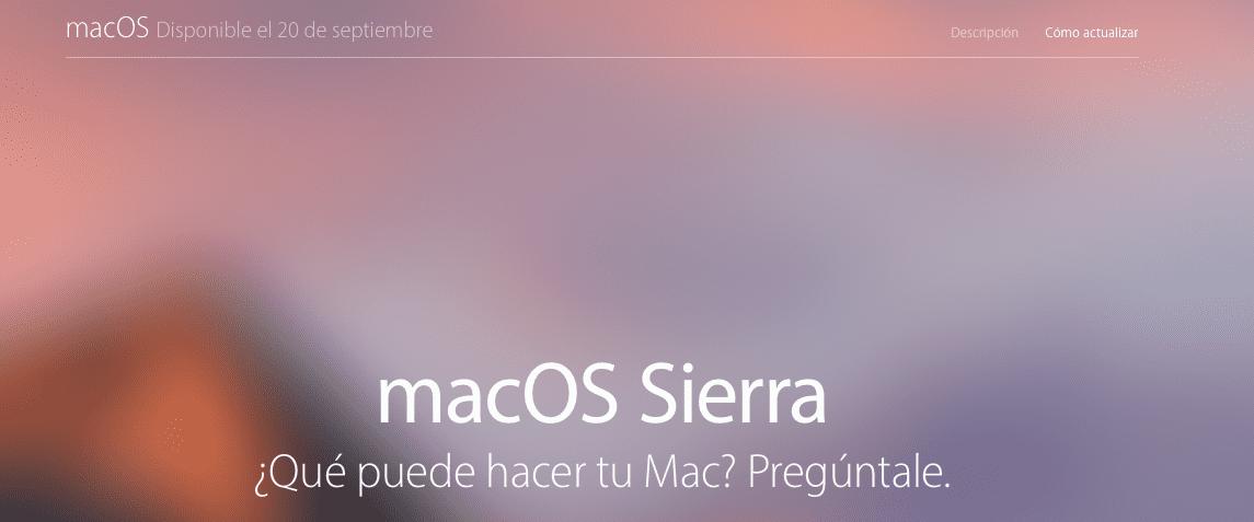Mañana tendremos entre nosotros al nuevo macOS Sierra