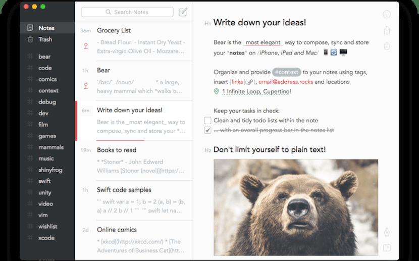 Bear, otra hermosa y práctica alternativa a Evernote