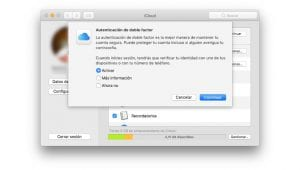 Autenticación de doble factor en Apple