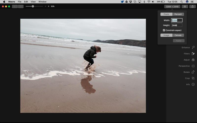 macro, un editor de fotografías sencillo y gratuito