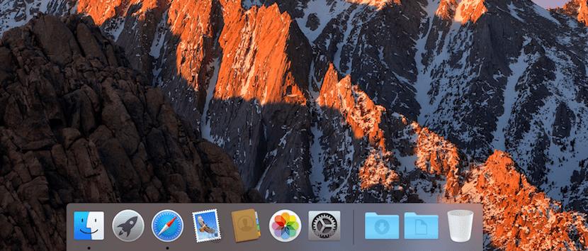 Dock en macOS