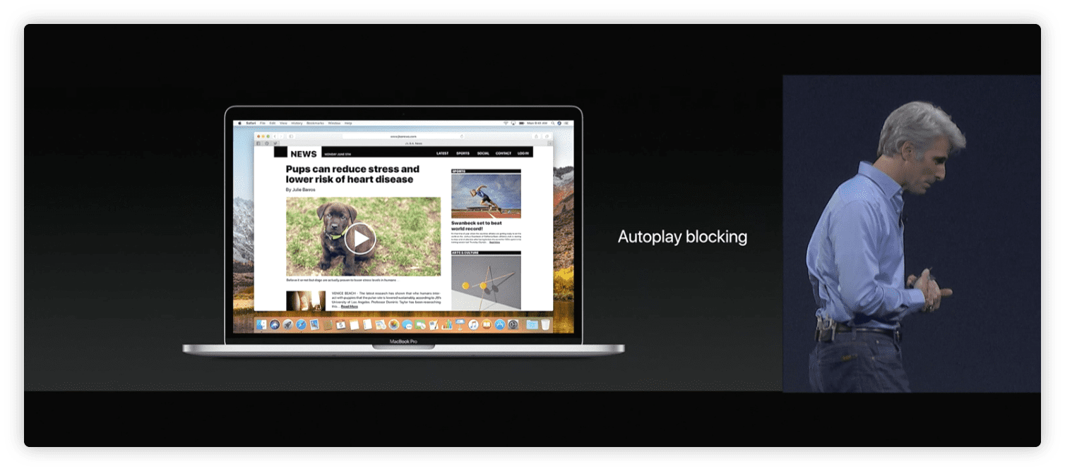 Autoblocking Safari
