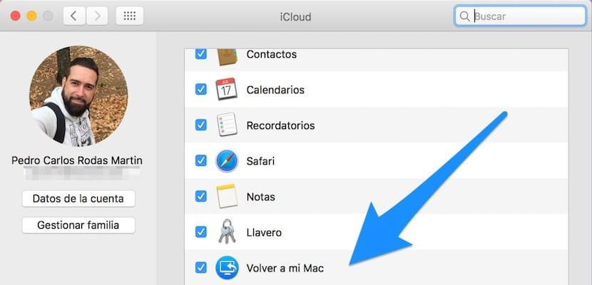 Cómo configurar Vover a mi Mac en macOS