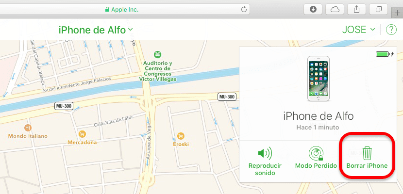 Restablecer iPhone con iCloud