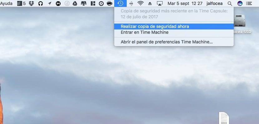 Realizar copia de seguridad en Mac